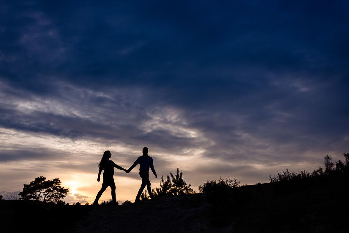 Loveshoot bij zonsondergang