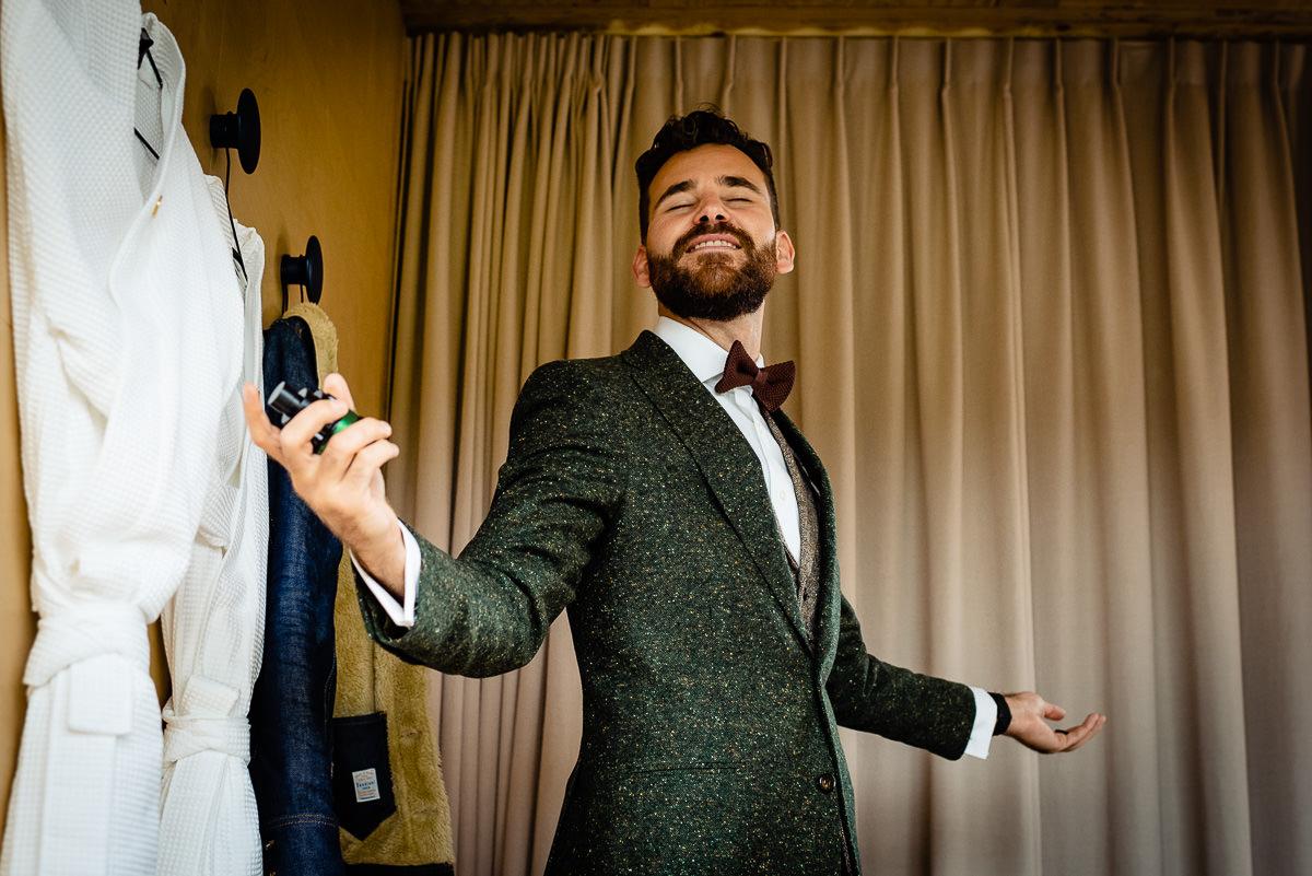 Bruidegom Amsterdam voorbereidingen | Stan Bessems Fotografie